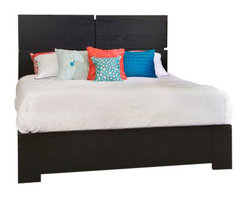 South Shore - South Shore Mikka Queen Platform Bed 4 Piece Bedroom Set in Black Oak - South Shore - Bedroom Sets - 3541XXMikka4PcBedroom Set - South Shore Mikka Contemporary Style 6 Drawer Dresser in Black Oak (included quantity: 1) This Mikka 6-Drawer Dresser in Black Oak offers a chic and modern looking style with its clean and straight lines. It features 6 practical drawer equipped with metal slides and elegant aluminum handles. In addition its front drawers stand out with a luxurious black lacquer finish. Pair it with the rest of the Mikka Collection to add a bit of glamour to your Master Bedroom. Its rich black oak finish and black lacquer-finish drawer fronts can be used to create a romantic, glamorous ambiance. Who says luxury is unaffordable?  The interior drawer dimensions are: 27-1/4-inch wide by 14-1/4-inch front to back by 6-1/4-inch high. New and improved drawer bottom made with wood fibers. The back surface is not laminated. Manufactured from certified Environmentally Preferred laminated particle panels. Complete assembly required by 2 adults. Tools are not included.  5-Year limited warranty.