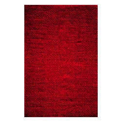 Momeni Rug - Momeni Rug Downtown 8' x 10' DT-01 Red DOWNTDT-01RED80A0 - Comfortable and sexy, the Downtown Collection brings chic city living style to any room. Hand-woven of wool and polyester shag to create a thick, lush pile, these rugs add swank stylishness. Fashionable colors lend casual elegance to the Downtown Collection.