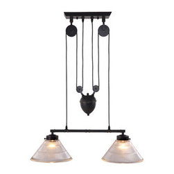 Garnet Ceiling Lamp Antique Black Gold - Zuo Modern Garnet Ceiling Lamp Antique Black GoldA precise reproduction of an antique light with an industrial past, the Garnet ceiling lamp's pully system and antique patina finish will turn heads. The lamp comes with two 60w bulbs and is UL approved.