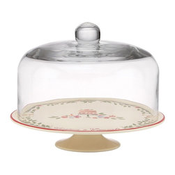 Lenox - Lenox Happiness is Homemade Cake Plate with Dome - 831722 - Shop for Plates and Dishes from Hayneedle.com! Instantly make your cake a holiday favorite with the Lenox Happiness is Homemade Cake Plate with Dome. This gorgeous two-piece set includes an earthenware stand with classic holiday pattern topped with a glass dome. It's dishwasher-safe and incredibly charming so you'll love holiday baking when you can show it off in this beauty!About Lenox:The Lenox Corporation is an industry leader in premium tabletops giftware and collectibles. The company markets its products under the Lenox Dans and Gorham brands propelled by a shared commitment to quality and design that makes the brands among the best known and respected in the industry. Collectively the three brands share 340 years of tabletop and giftware expertise.