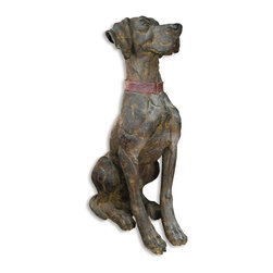 "Uttermost - Big Rusty Distressed Statue - ""Big Rusty"" will hold a special appeal for any canine lover, no matter what big dog you have a soft spot for. Celebrate man's best friend by placing him in a prominent spot — like atop a mantle, side table or dresser — and let your puppy love show."