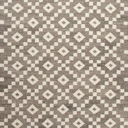 Jaipur Rugs - Flat-Weave Durable Wool Gray/Ivory Area Rug, 5' x 8' - Constructed with un-dyed wool with a flat-weave construction, using traditional Scandinavian motifs this rug combines a modern feel with age old tradition.