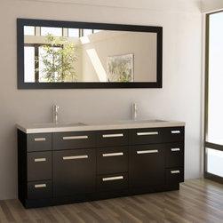 "Design Element - Design Element J72-DS Moscony 72"" Double Sink Vanity Set in Espresso - Design Element J72-DS Moscony 72"" Double Sink Vanity Set in Espresso"