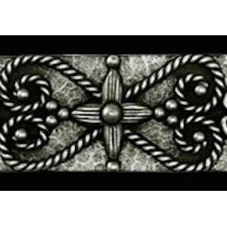 "Compliments Accessories - Isabella Tile Liner - Old world Florentine design 1x6"" liner in a Pewter finish"