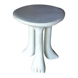 Vintage John Dickinson End Table - Rare, original John Dickinson African end table.  A pair are available (price is for one).  Signed.  Made of plaster.  These end tables were bought directly from Dickinson in San Francisco in the 1970's.  They have been in the same room for 35 years.  Whimsical pieces that have stood the test of time.  Still just as fun and relevant today as they were decades ago.   To purchase the pair, please contact support@chairish.com.