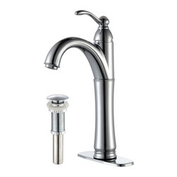 Kraus - Kraus FVS-1005-PU-10CH Riviera Single Lever Vessel Faucet - Add a touch of elegance to your bathroom with a vessel sink faucet from Kraus