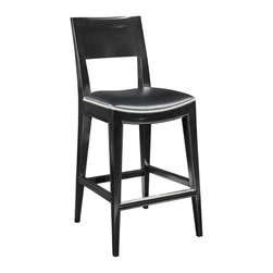 EuroLux Home - New Counter Stool Saddle Seat Black - Product Details