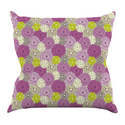 """Kess InHouse - Julie Hamilton """"Rhapsody"""" Purple Pink Throw Pillow (20"""" x 20"""") - Rest among the art you love. Transform your hang out room into a hip gallery, that's also comfortable. With this pillow you can create an environment that reflects your unique style. It's amazing what a throw pillow can do to complete a room. (Kess InHouse is not responsible for pillow fighting that may occur as the result of creative stimulation)."""