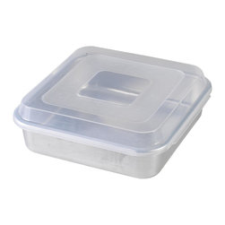 """Nordic Ware - Nordic Ware 9"""" x 9"""" Square Cake Pan with Lid, 4 Pack - Nordic Ware 45803 9"""" X 9"""" Square Cake Pan with Lid (4 Pack)"""