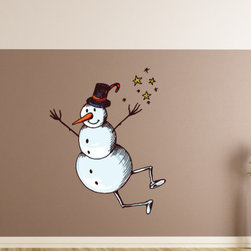 Christmas Snowman Vinyl Wall Decal, 23 Inches - Vinyl Wall Decals are an awesome way to bring a room to life!