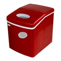 Newair Appliances - NewAir Appliances Red Portable Ice-maker - This lightweight portable ice-maker features a compact and space saving design to make for easy transport and storage. With three different cube settings and a 28 pound daily capacity, this machine is perfect for parties, events, and entertaining.