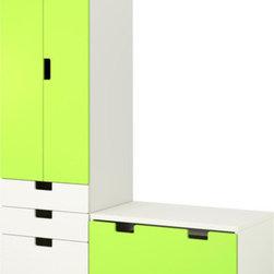 Ebba Strandmark/IKEA of Sweden - STUVA Storage combination with bench - Storage combination with bench, white, green