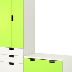 Ebba Strandmark/IKEA of Sweden - STUVA Storage combination with bench - Storage combination with bench, white, green