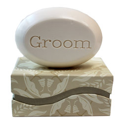 New Hope Soap - Scented Soap Bar Personalized – Groom, Freesia - Personalized Scented Soap Bar Gift Set Engraved with Groom