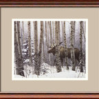 """Amanti Art - """"A Walk In the Woods"""" Framed Print by Stephen Lyman - This wintry scene looks like it jumped off the pages of a fairy tale. Artist Stephen Lyman presents a breathtaking look into the wild with this print of a stolen moment in the woods."""
