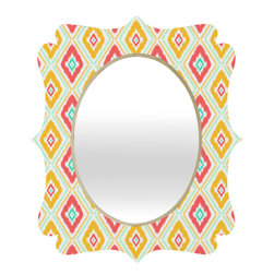 DENY Designs - Jacqueline Maldonado Zig Zag Ikat White Quatrefoil Mirror - Mirror, mirror on the wall. Who's the fairest one of all? We'll that's easy, the quatrefoil mirror collection, of course! With a sleek mix of baltic birch ply trim that's unique to each piece and a glossy aluminum frame, the rectangular mirror makes you feel oh so pretty every time you catch a glimpse. Custom made in the USA for every order.