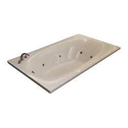 Spa World Corp - Atlantis Tubs 3666PDR Polaris 36x66x23 Rectangular Air & Whirlpool Jetted Tub - The Polaris series features a blend of oval and rectangular construction and molded armrests. Soft surround curves of the interior provide soothing comfort to your bathing experience. The narrow width of the Polaris bathtubs' edge adds additional space.  The Atlantis Whirlpools jet massaging action is created by combining hot water with air bubbles and moving the mixture at high speeds through jet nozzles. These streams of water loosen tight muscles and stimulate the release of endorphins, the body's natural painkillers, helping to melt away any aches and pains. The overall effect leaves you feeling physically, mentally and emotionally relaxed and refreshed.  Drop-In tubs have a finished rim designed to drop into a deck or custom surround.  They can be installed in a variety of ways like corners, peninsulas, islands, recesses or sunk into the floor.  A drop in bath is supported from below and has a self rimming edge that is designed to sit over a frame topped with a tile or other water resistant material.  The trim for the air or water jets is featured in white to color match the tub.