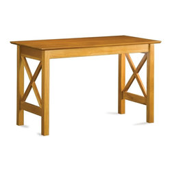 Atlantic Furniture - Lexi Work Table CL - With crossed slat side panels for an old world look, this classic work table will be a timeless, treasured addition to any home office decor. Constructed of solid hardwoods, the table is finished in caramel latte and can be paired with coordinating items for a cohesive look. Solid hardwood construction. Rectangular in shape. Distinct side panel designs. 48 in. W x 29.63 in. D x 24 in. H. Assembly Instructions 1. Assembly Instructions 2With the addition of Santa Fe or Lexington side panels, we've expanded the styling options of the Shaker Work Table.