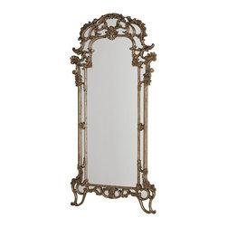 Hammary - Hammary Jessica McClintock Silver Veil Floor Mirror - Silver Veil Floor Mirror Belongs to Jessica McClintock Collection by Hammary