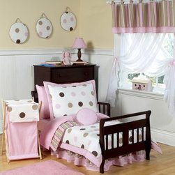 Sweet Jojo Designs - Sweet Jojo Designs Girl 5-piece Polka Dots Toddler Comforter Set - This Sweet Jojo Designs 5-piece toddler bedding ensemble will create a stylish room that your child is sure to enjoy.