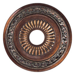 "Minka Lavery - Minka Lavery Ceiling Medallion in Belcaro Walnut 1940-126 - Ceiling Medallion 20 3/4"" Diameter"