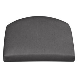 Summerlin Sunbrella® Charcoal  Arm Chair Cushion - Arm chair cushion is fade- and mildew-resistant Sunbrella acrylic in charcoal.