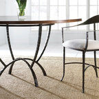 "Hudson 60"" Round Dining Table by Charleston Forge - Dimensions:"