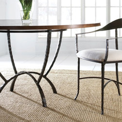 """Hudson 60"""" Round Dining Table by Charleston Forge - Dimensions:"""