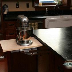 Kitchens - Mixer lift in cherry kitchen island by Anliker Custom Wood, Ltd.