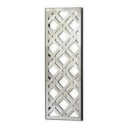 Rectangular Woven Mirror Wall Decor - *Rectangular Mirrored Wall Decoration