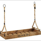 Olive Oil Crate Candleholder - This olive oil crate candleholder suspended over your table would make a great conversation piece.