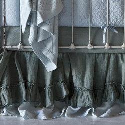 Bella Notte Linens - Linen Whisper Crib Dust Ruffle - Linen Whisper Crib Dust Ruffle