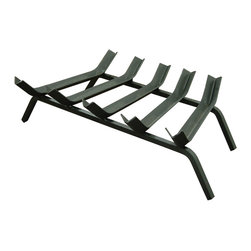 """Landmann - Wide Bar Fireplace Grate 23in.  5 bar - Deep  1"""" """"V"""" Grooves holds gelled fire starter close to the firewood & makes lighting fires easy! . Solid and durable, the  new Landmann  Wide Bar """"V"""" grates are made from solid """" square bar steel which is 33% heavier than products made of round bar steel . Landmann's new Wide Bar """" V"""" Grate has more surface area to hold wood securely . The new Deep """"V"""" Wide Bar Grates are designed to work with most any gelled fire starter. Wide Bar 1/2"""" Steel V-Grate 23"""", 5 bar. 22 in. L X 19 in. W X  13 in.  H (7.3 lbs)"""