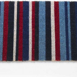 Striped Coir Doormat - I love the colors in this striped mat. It's a traditional design but very cheerful and welcoming.