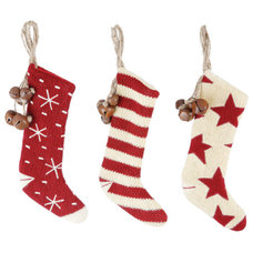 Farmhouse Christmas Stockings And Holders by A Cottage in the City