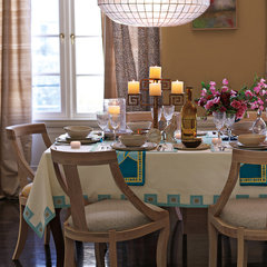 eclectic dining room by Serena & Lily