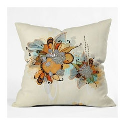 "DENY Designs - Iveta Abolina Sunset 2 Throw Pillow - Wanna transform a serious room into a fun, inviting space? Looking to complete a room full of solids with a unique print? Need to add a pop of color to your dull, lackluster space? Accomplish all of the above with one simple, yet powerful home accessory we like to call the DENY Throw Pillow! Features: -Iveta Abolina collection. -Material: Woven polyester. -Sealed closure. -Spot treatment with mild detergent. -Top and back color: Print. -Made in the USA. -Closure: Concealed zipper with bun insert. -Small dimensions: 16"" H x 16"" W x 4"" D, 3 lbs. -Medium dimensions: 18"" H x 18"" W x 5"" D, 3 lbs. -Large dimensions: 20"" H x 20"" W x 6"" D, 3 lbs."