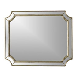 """Hooker Furniture - Hooker Furniture Melange Montage Mirror - The Montage collection is crafted using hardwood solids and silver leaf with antique mirror. Hardwood Solids and Silver Leaf with Antique Mirror. Dimensions: 46""""W x 1.75""""D x 38""""H."""