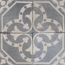 Cement Tile - Antique cement tile with a lovely patina and pattern. We love this type of tile to add a sense of place to a home design, it can be used in a traditional, country sense or create texture and feel in an eclectic design.
