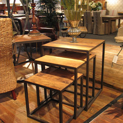 Furniture Classics Limited - Old Elm Nesting Tables -