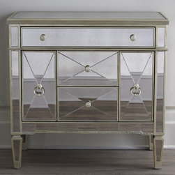 Amelie Small Mirrored Chest -