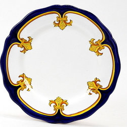 Artistica - Hand Made in Italy - Giglio D'oro: Dinner Plate - Giglio D'oro Collection: