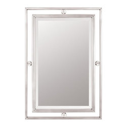 Quoizel - Quoizel Downtown Steel Frame Mirror - 22W x 32H in. - DW43222BN - Shop for Mirrors from Hayneedle.com! About Quoizel LightingLocated in Charleston South Carolina Quoizel Lighting has been designing timeless lighting fixtures and home accessories since 1930. They offer a distinctive line of over 1 000 styles including chandeliers lamps and hanging pendants. Quoizel Lighting is the perfect way to add an inviting atmosphere to any area in your home both indoors and out.