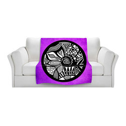 DiaNoche Designs - Throw Blanket Fleece - Abstract Circle Purple - Original Artwork printed to an ultra soft fleece Blanket for a unique look and feel of your living room couch or bedroom space.  DiaNoche Designs uses images from artists all over the world to create Illuminated art, Canvas Art, Sheets, Pillows, Duvets, Blankets and many other items that you can print to.  Every purchase supports an artist!