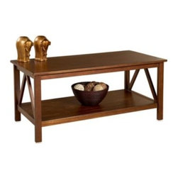 Linon Home - Dylan Coffee Table - Dylan Collection has a simple, yet eye-catching design that is matched with incredible durability. This coffee table features a simple body that makes it perfect for any living area.