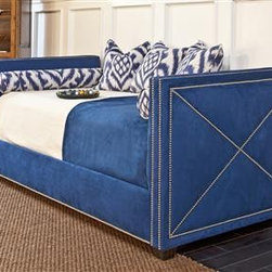 Harrison Day Bed - The stunning nailhead detail of this upholstered daybed truly makes it unique. It is sophisticated, classic and suitable for any room of your home.