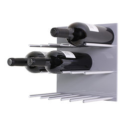 Vin de Garde Modern Wine Cellars Inc. - Wall Mounted Wine Rack | Vin de Garde XY Series, Grey - This stunning modular wall mounted wine rack allows you to customize your wine wall in anyway that you can imagine! The Vin de Garde XY 3X3 Kit holds up to 9 bottles of wine, and is backed by an ultra sleek-looking high gloss acrylic panel. With this system, you can mix and match the panels to create the perfect pattern and look for your home. What are you waiting for? Start building the wine collection of your dreams today.