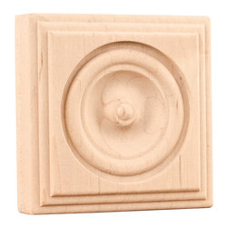Hardware Resources - Oak Traditional Rosettes - A rose is a rose is a ... but not in decorating. If you want to add a sophisticated touch to your decor, consider adding a rosette. Delicate and elegant, it's the ideal detail for door and window frames, fireplace mantels or even on staircases.