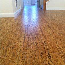 Contemporary Wood Flooring Cork Floor