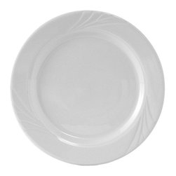 Tuxton - TuxCare 9 inch Sonoma Plate Porcelain White - Case of 24 - Our plates and dishes are designed to combine with insulated domes bases and other innovative food systems for extended heat retention. Whether it is casual or extravagant the classic embossed pattern of Sonoma delivers a tabletop worth remembering.